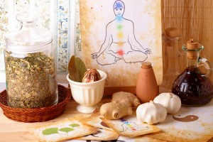 Traditional alternative therapy or medicine, also concept of hea
